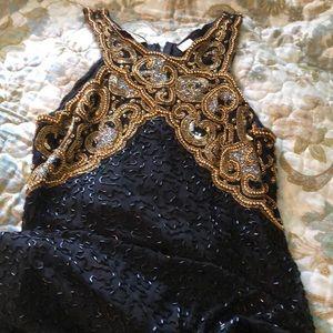 Vintage Beaded Full Length Gown